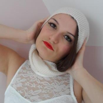 White Iridescent Cowl-Scarf